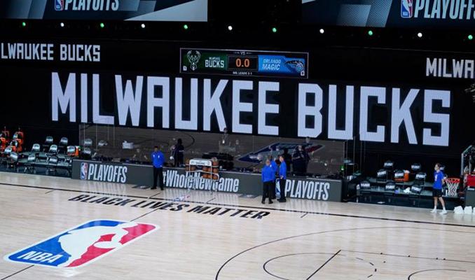 NBA'de boykot: Play off maçları ertelendi