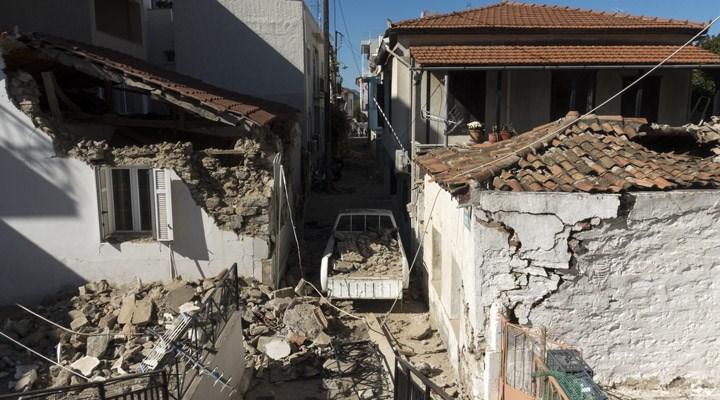 Sisam Adası'nda depremin yıkıcı boyutu ortaya çıktı: 300 ev ve 70'den fazla iş yerinde hasar var