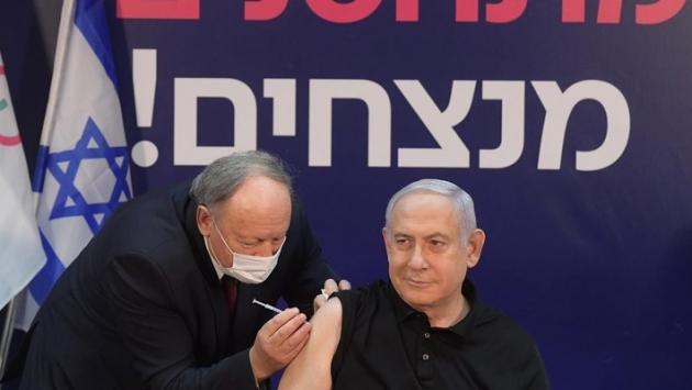 İsrail'de ilk Covid-19 aşısı canlı yayında Netanyahu'ya yapıldı