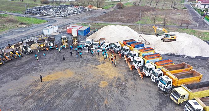 İstanbul'da belediye ekiplerinin kış hazırlıkları başladı