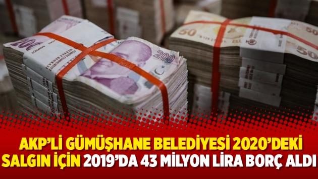 Sayıştay: AKP'li Gümüşhane Belediyesi 2020'deki salgın için 2019'da 43 milyon lira borç aldı