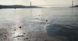 Sokağa çıkma kısıtlamasında İstanbul Boğazı'nda çöp adaları oluştu