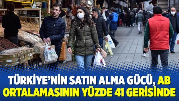 Türkiye'nin satın alma gücü, AB ortalamasının yüzde 41 gerisinde