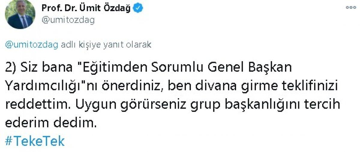Ümit Özdağ dan Meral Akşener e: 4 gerçek dışı açıklama #2