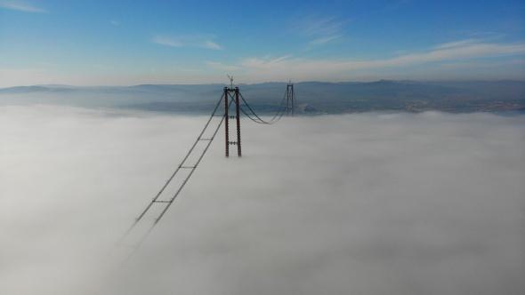 1915 Çanakkale Köprüsü sisler içinde