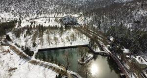 Toroslar'daki Kuğulu Park'ta kısıtlama sessizliği