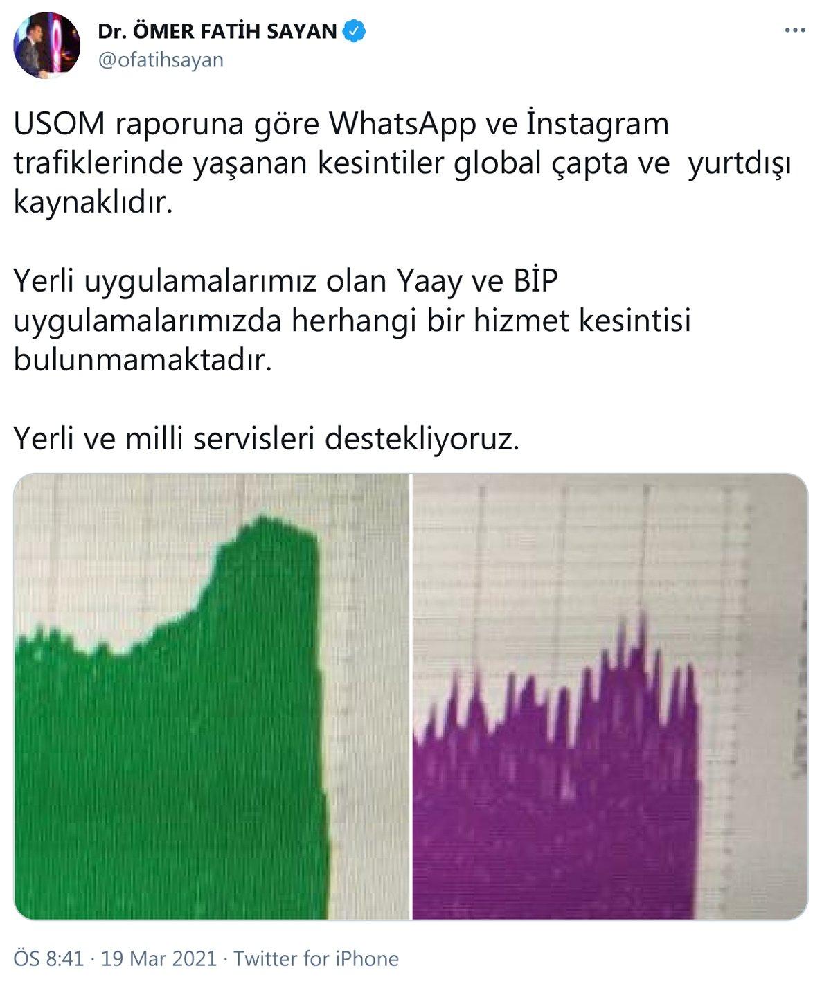 WhatsApp ve Instagram tekrar erişime açıldı