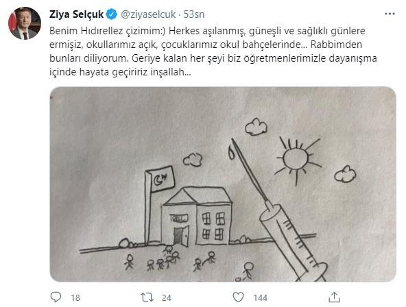 Bakan Selçuk'tan 'Hıdırellez' paylaşımı
