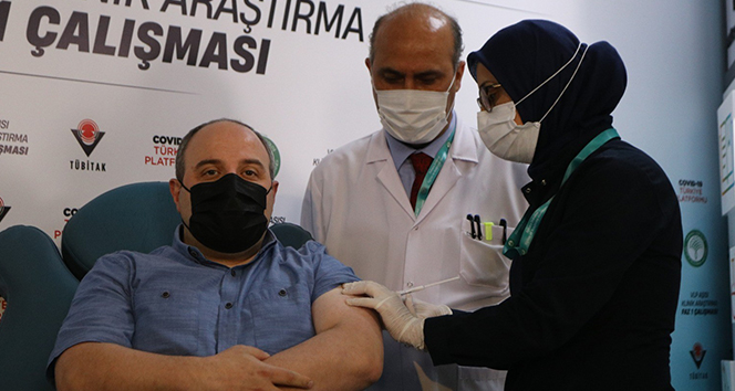 Bakan Varank VLP aşısının 2.dozunu oldu