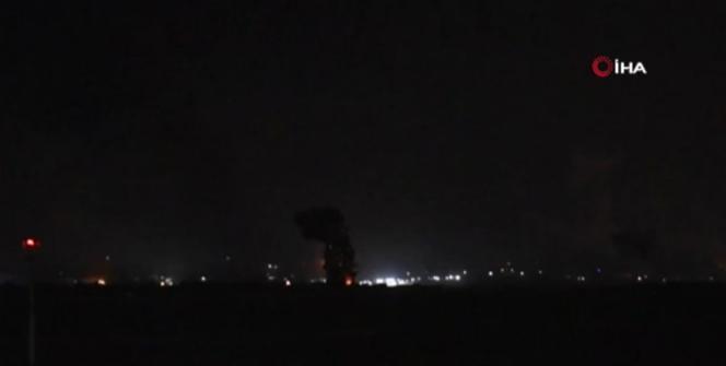İsrail, Gazzeye bomba yağdırdığı anların görüntülerini yayımladı