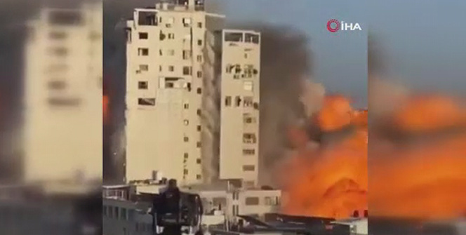 El-Şuruk Kulesinin vurulma anına ait yeni görüntüler ortaya çıktı
