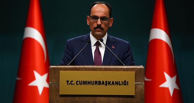 Cumhurbaşkanlığı Sözcüsü Kalın: Türkiye Filistin halkının yanında olmaya devam edecektir