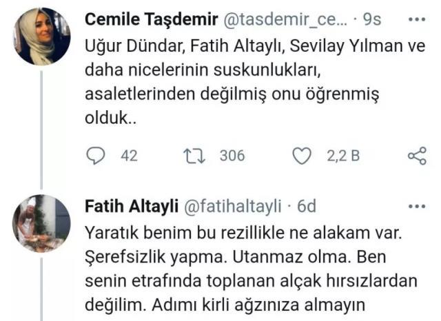 Fatih Altaylı'dan Cemile Taşdemir'e ağır sözler: Yaratık, şerefsizlik yapma