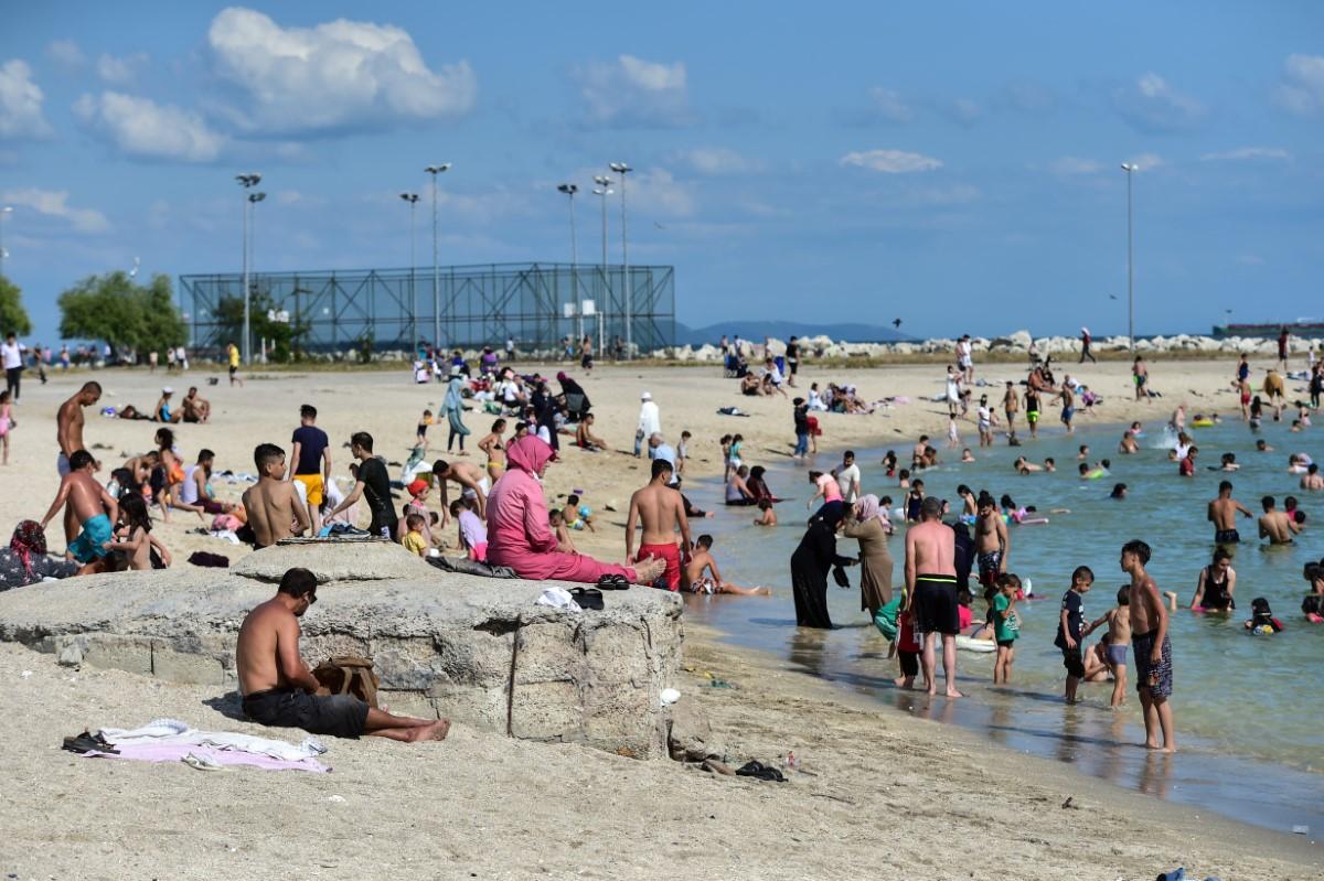 Yeşilköy sahilinde bayramın son günü yoğunluk yaşandı