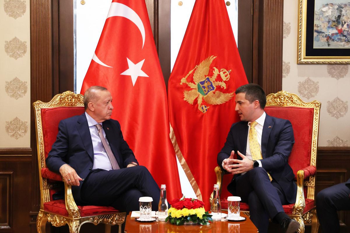 Cumhurbaşkanı Erdoğan, Karadağ Parlamento Başkanı Beçiç'i kabul etti
