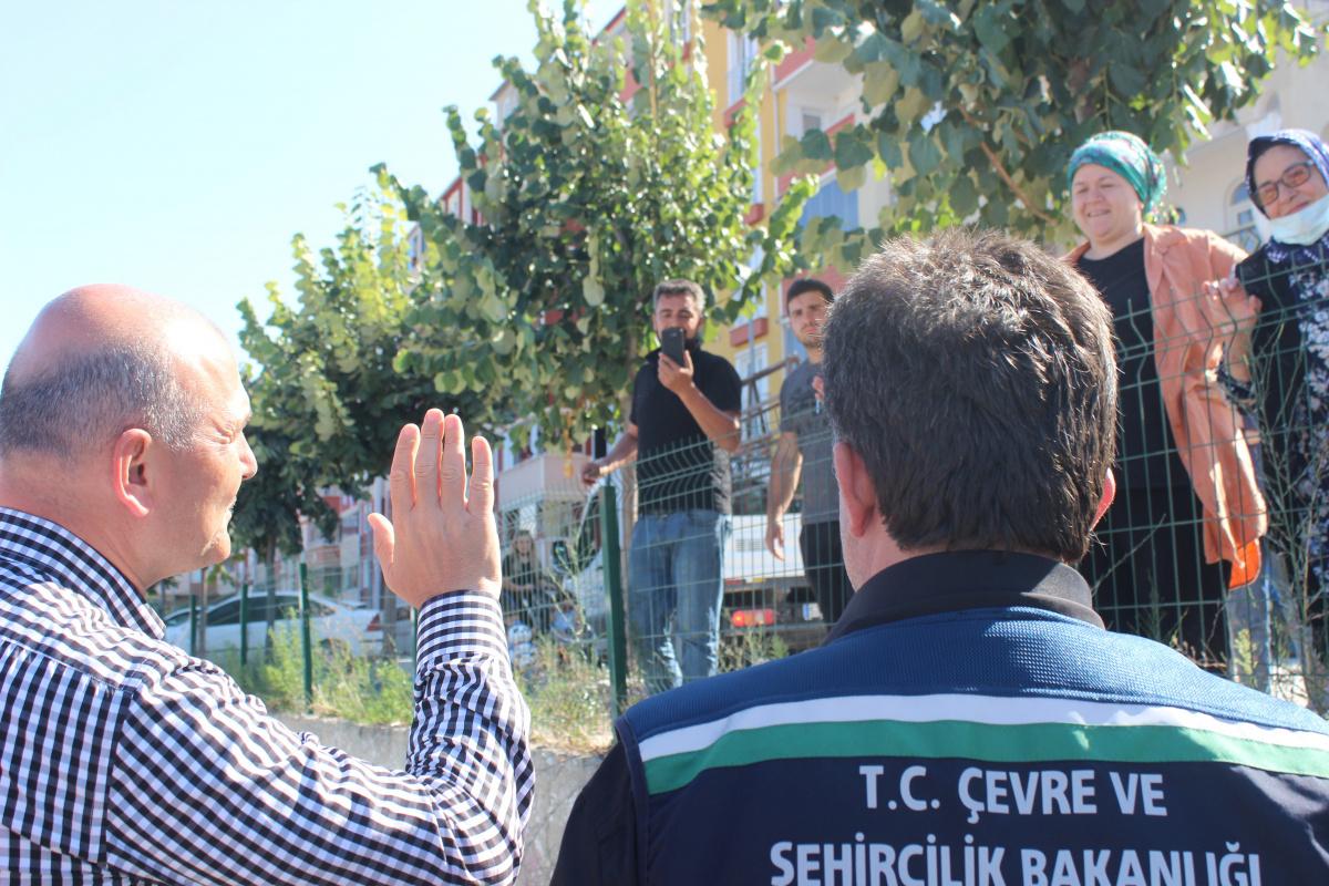 İçişleri Bakanı Soylu, afet bölgesi Türkeli'de