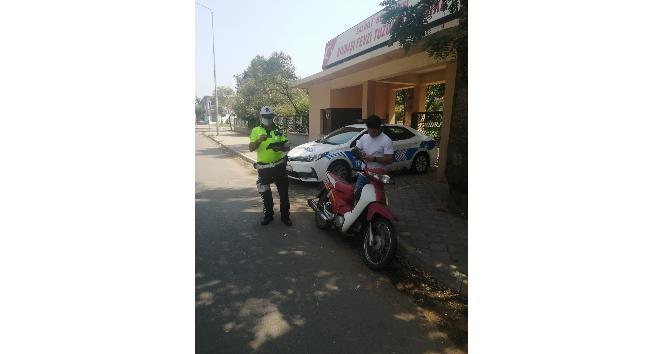Salihli'de motosiklet denetimleri aralıksız sürüyor
