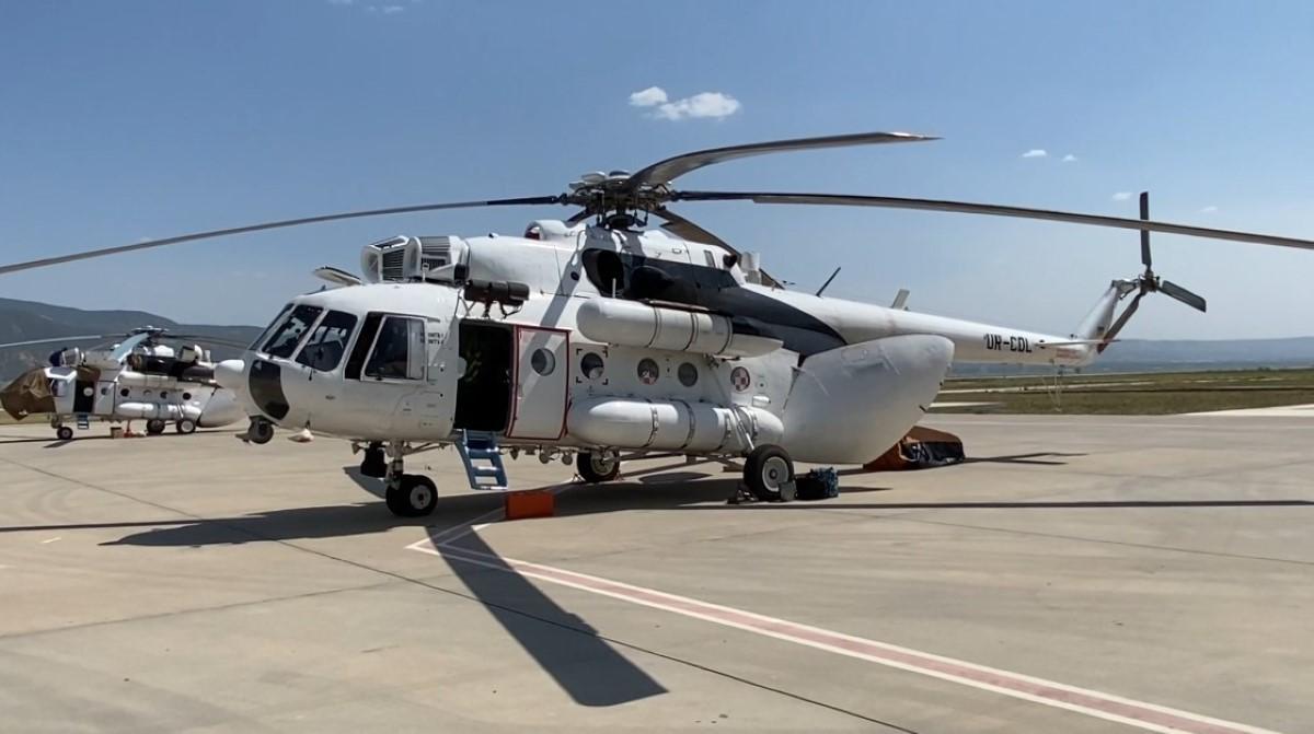 Ukrayna'dan gelen 5 helikopter yangınlara gece müdahalesi için havalanacak