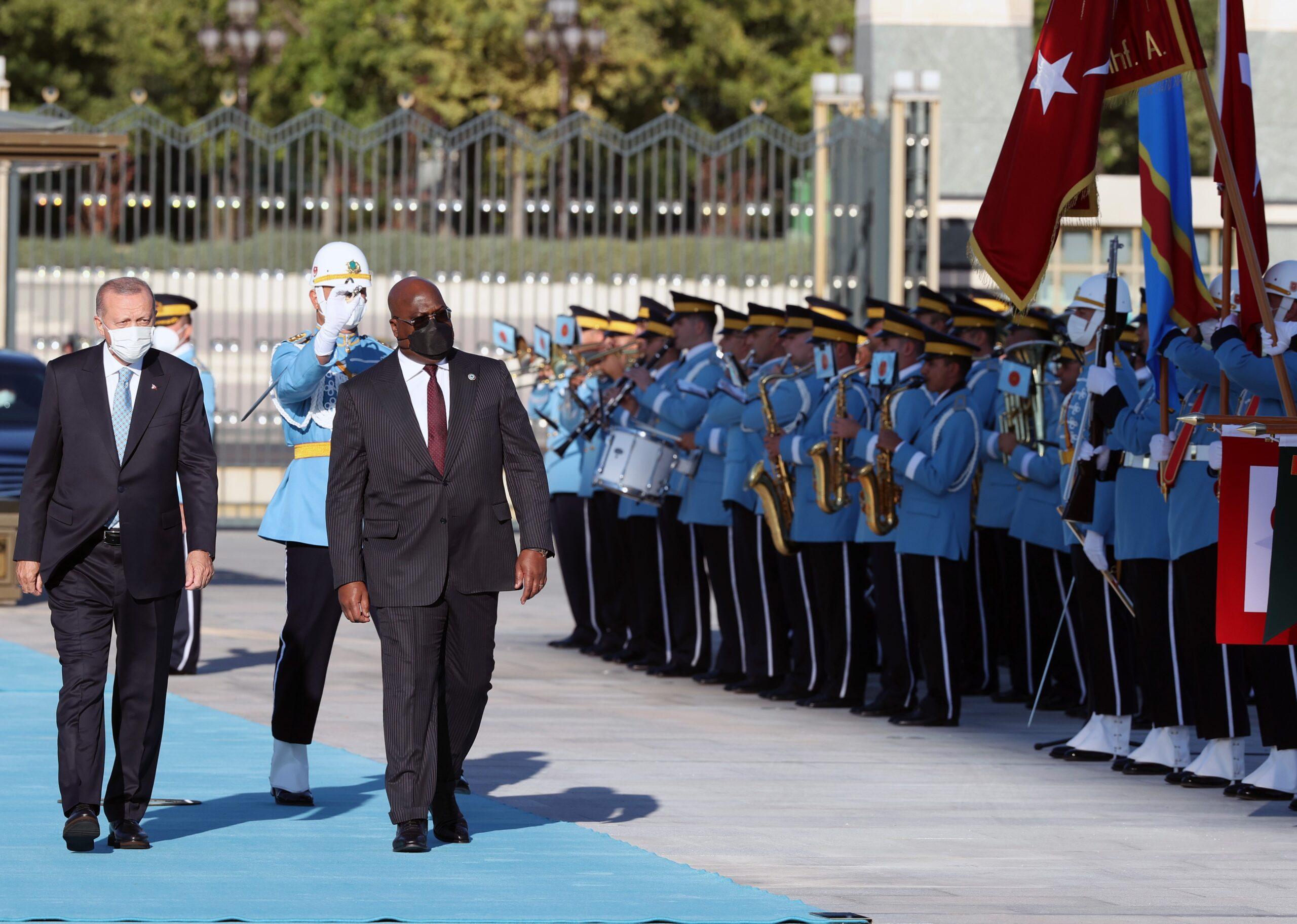 Cumhurbaşkanı Erdoğan, Kongo Cumhurbaşkanı Tshilombo'yu resmi törenle karşıladı